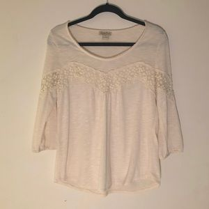 Crochet Lace Detail Blouse | Lucky Brand